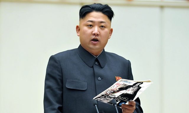 The supreme leader is rarely seen without  a copy of whatever volume he's re-reading.