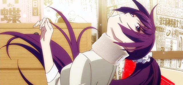Some terrible waifu in a neck brace